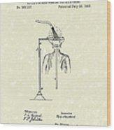 Head Washer 1887 Patent Art Wood Print