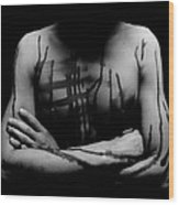 Headless Man Wood Print