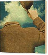 Headless Man With Bowler Hat Wood Print