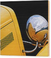 Headlight Reflections In A 32 Ford Deuce Coupe Wood Print
