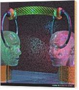 Headset 2 Wood Print