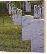 Headstones Of Arlington Cemetery Wood Print