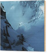 Headwall Mount Blanc Wood Print