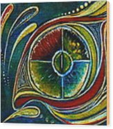 Healer Spirit Eye Wood Print