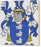 Healey Coat Of Arms Irish Wood Print