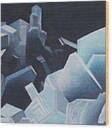 Healing Blue Crystals Wood Print
