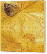 Healing In Golden World Wood Print