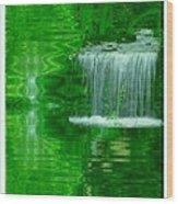 Healing In Green Waters Wood Print