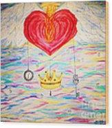 Healing In His Wings  Malachi 4 Wood Print
