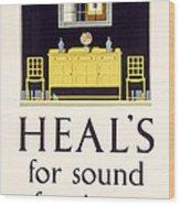 Heals Sound Furniture Advertisement Wood Print