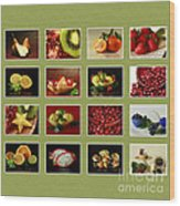 Healthy International Fruits Collection Wood Print