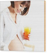 Healthy Pregnant Lady Wood Print