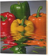 Healthy Reflections Wood Print by Shane Bechler