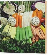 Healthy Veggie Snack Platter - 5d20688 Wood Print