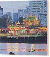 Hean Boo Thean Temple At Blue Hour Wood Print
