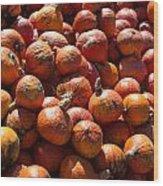 Heap Of Pumpkins Wood Print