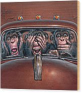Hear No Evil See No Evil Speak No Evil Wood Print