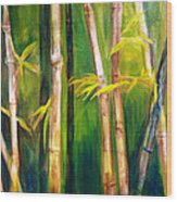 Hear The Bamboo Wood Print