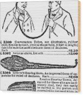 Hearing Aid, 1900 Wood Print