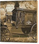 Hearse Poster Wood Print by Crystal Loppie