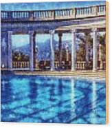 Hearst Castle Pool Wood Print