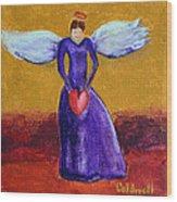 Heart Angel Wood Print