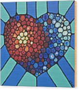 Heart Art - Love Conquers All 2  Wood Print