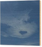 Heart Cloud Wood Print