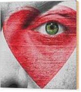 Heart Face Wood Print