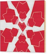 Heart Flower 1 Wood Print