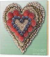 Heart-healthy Foods Wood Print