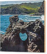 Heart In The Rock Wood Print