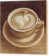 Heart Latte II Wood Print