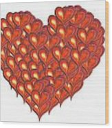 Heart Of Hearts Wood Print