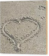 Heart Of Sand Wood Print