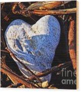 Heart Of Stone Wood Print