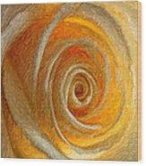 Heart Of The Matter Impasto Wood Print