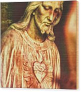 Heart Of The Savior Wood Print