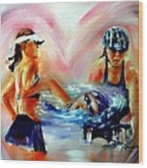 Heart Of The Triathlete Wood Print