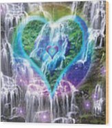 Heart Of Waterfalls Wood Print