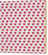 Heart Patterns Wood Print