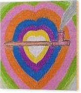 Heart Pipe Wood Print