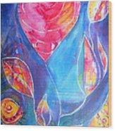 Heart Rose Wood Print