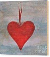 Heart Shape Textured Wood Print