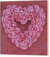 Heart-shaped Floral Arrangement Wood Print