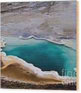 Heart Spring Yellowstone National Park Wood Print