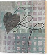 Heart String Abstract- Art  Wood Print