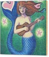 Heart Tail Mermaid Wood Print