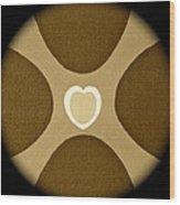 Heart Three Wood Print