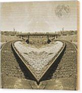 Heart Tracks Wood Print